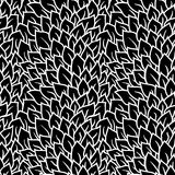 Black and white seamless pattern. Graphic ornament. Floral stylish background. Vector repeating texture with stylized Stock Photo