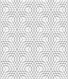 Black and white seamless pattern grid Stock Images
