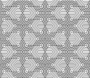 Black and white seamless pattern grid Royalty Free Stock Image
