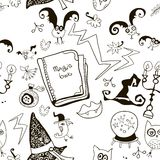 Black and white seamless pattern for Halloween Royalty Free Stock Image