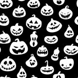 Seamless pattern for Halloween with pumpkins Stock Image