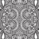 Black and white seamless pattern, hand drawing stock illustration