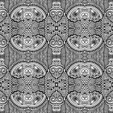Black and white seamless pattern, hand drawing Stock Images