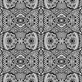 Black and white seamless pattern, hand drawing Stock Image