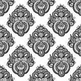 Black and white seamless pattern, hand drawing Royalty Free Stock Image