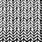 Black and white seamless pattern hand drawn design Royalty Free Stock Image