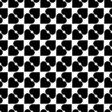 Black and white seamless pattern with heart stylish, abstract ba Royalty Free Stock Photography