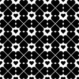 Black and white seamless pattern with heart stylish, abstract ba Stock Photos