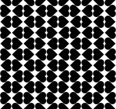Black and white seamless pattern with heart stylish, abstract ba Stock Images