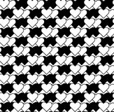 Black and white seamless pattern with heart stylish, abstract ba Stock Photo