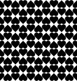 Black and white seamless pattern with heart stylish, abstract ba Stock Photography