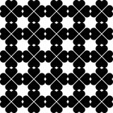 Black and white seamless pattern with heart stylish, abstract ba Stock Image