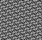Black and white seamless pattern with leaves. Royalty Free Stock Images