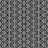 Black and white seamless pattern with line and oval shape. Royalty Free Stock Image