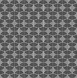 Black and white seamless pattern with line and oval shape. Royalty Free Stock Photography