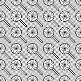 Black and white seamless pattern with lollipops Stock Photography