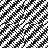 Black and white seamless pattern. Optical art texture with diagonal rhombuses. Vector black and white seamless pattern. Optical art texture with small diagonal Royalty Free Stock Photography