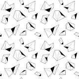 Black and white seamless pattern with polygonal shapes Royalty Free Stock Images