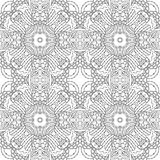 Black and white seamless pattern psychedelic. Royalty Free Stock Photography