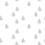 Black and white seamless pattern with raindrops Royalty Free Stock Photography