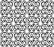 Black and white seamless pattern sacred geometry Royalty Free Stock Images