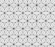 Black and white seamless pattern sacred geometry Stock Images