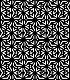Black and white seamless pattern sacred geometry Royalty Free Stock Photography