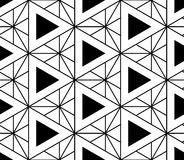 Black and white seamless pattern sacred geometry Royalty Free Stock Image