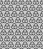 Black and white seamless pattern sacred geometry. Vector modern seamless pattern sacred geometry ,black and white textile print with illusion, abstract texture Royalty Free Stock Images