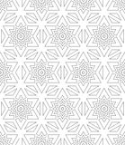 Black and white seamless pattern sacred geometry Stock Photography