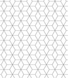 Black and white seamless pattern sacred geometry Royalty Free Stock Photo