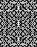 Black and white seamless pattern sacred geometry Royalty Free Stock Photos