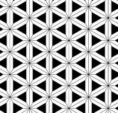 Black and white seamless pattern  sacred geometry Stock Image