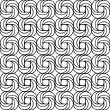 Black and white seamless pattern with spiral line Stock Photo