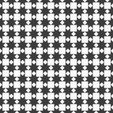 Black and white seamless pattern with stylized stars Royalty Free Stock Images