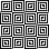 Black and white seamless pattern tiles Stock Images