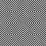 Black and white seamless pattern tiles Stock Photography
