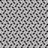 Black and white seamless pattern with triangles Stock Photo