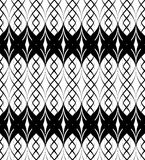 Black and white seamless pattern twist line style, abstract back Royalty Free Stock Photography