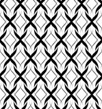 Black and white seamless pattern twist line style, abstract back Royalty Free Stock Images