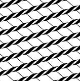 Black and white seamless pattern twist line style, abstract back Royalty Free Stock Photos