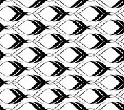 Black and white seamless pattern twist line style, abstract back Stock Photography