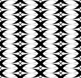 Black and white seamless pattern twist line style, abstract back Stock Images