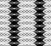 Black and white seamless pattern twist line style Stock Image