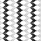 Black and white seamless pattern twist line style, abstract background Stock Images