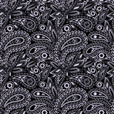 Black and white seamless pattern . Vector print Stock Photo