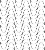 Black and white seamless pattern wave line style, abstract backg Royalty Free Stock Images