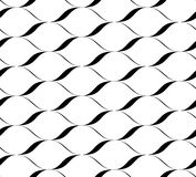 Black and white seamless pattern wave line style, abstract background Royalty Free Stock Photo