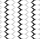 Black and white seamless pattern wave line style, abstract background Royalty Free Stock Image