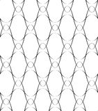 Black and white seamless pattern wave line style, abstract background Stock Images